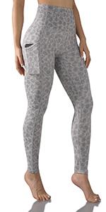 ODODOS Tummy Control Printed Yoga Capris Leggings