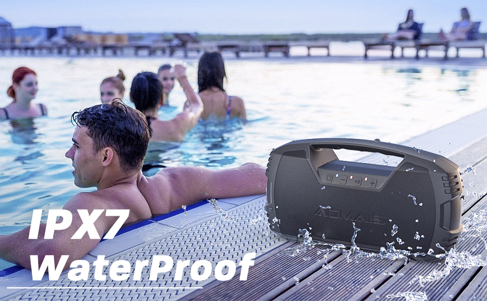 AOMAIS GO  AOMAIS GO Bluetooth Speakers, 40H Playtime Outdoor Portable Speaker, 40W Stereo Sound Rich Bass, IPX7 Waterproof Bluetooth 5.0 Wireless Pairing,10000mAh Power Bank, for Party, Travel(2020 Upgrade) 6e9be8c1 7da6 45a1 b542 d1f835e8bd59