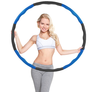 95cm Hula Hoop 8 Teile Reifen Fitness Schaumstoff Bauchtrainer Fitnesstraining B