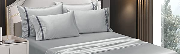 queen sheet pillowcase sets light grey