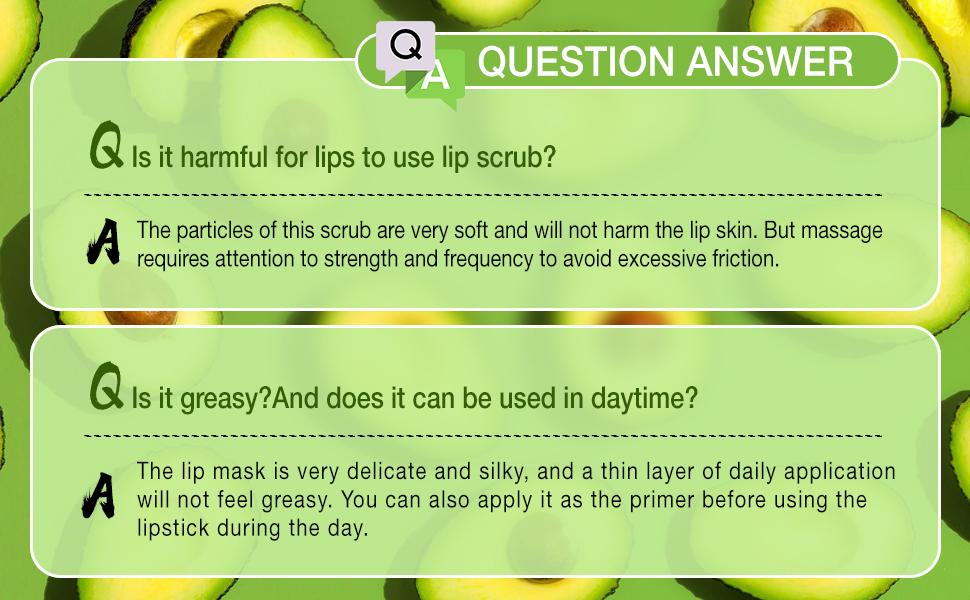 Avocado lip care