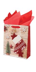Rustic Christmas Gift Bags