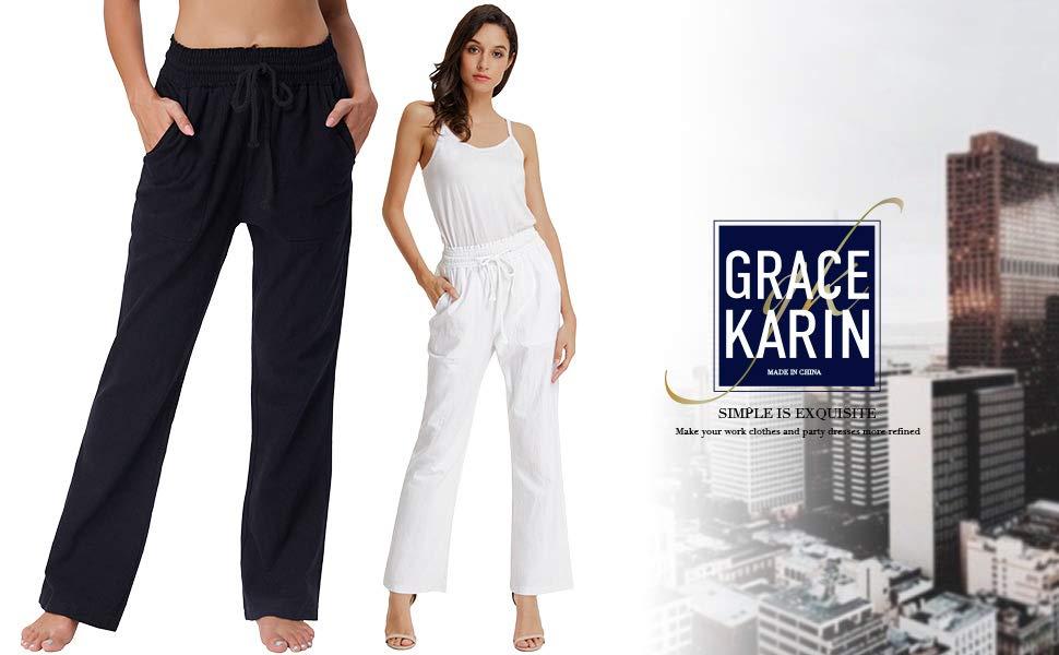 Donna pantaloni elegante casual
