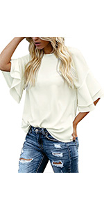 tops for women 3/4 sleeve summer blouses for women 2020