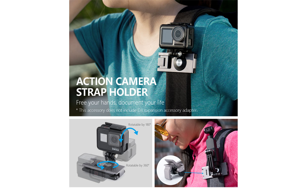 Carrying Case Blue Silicone Rubber Case /& Extension Pole Tripod Mini with Luckybird USB Reader PFYTECH OSMO Action Travel Set Including Strap Holder