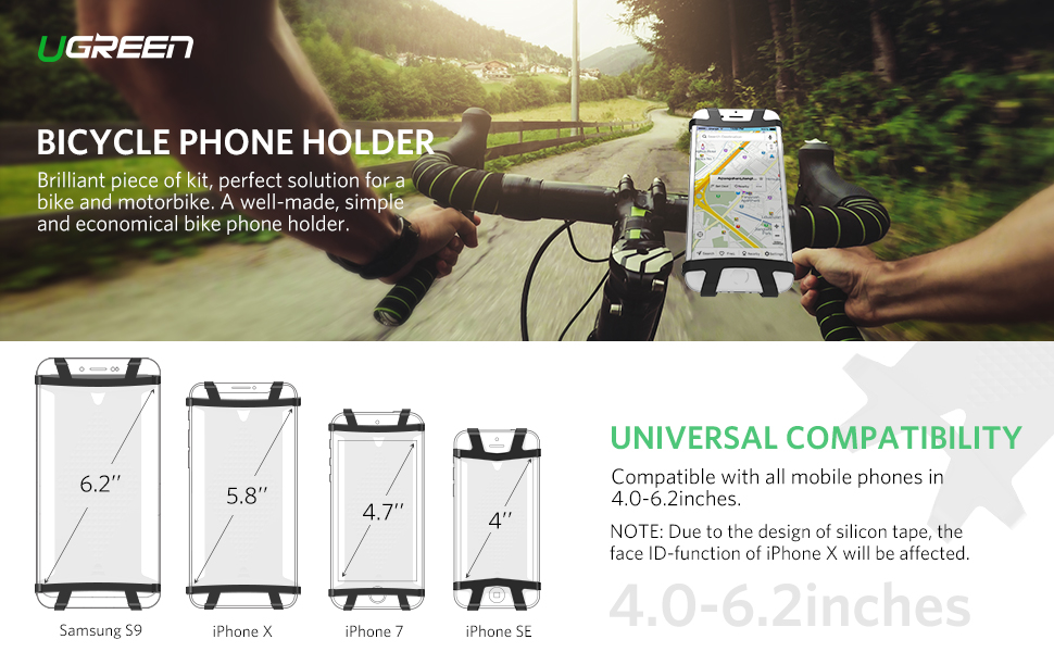 UGREEN Bike Phone Mount Bicycle Holder