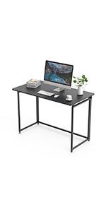 Computer Desk Cable Management Sturdy Writing PC Laptop Table Workstation Metal Frame Home Office