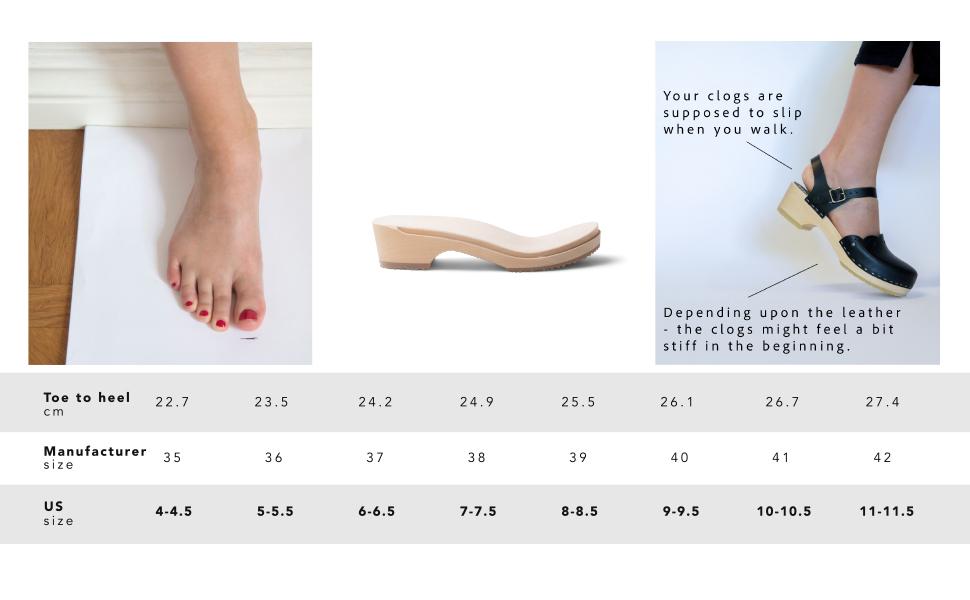 Sandgrens Size Guide