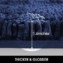 high absorbency bath rug mat set