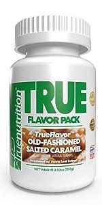 true nutrition trueflavor old fashioned salted caramel custom protein powder