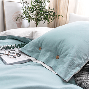 button closure pillow cases pillow shams durable Breathable and moisture absorbing material
