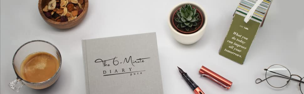 The 6 Minute Diary, Journaling, Mindfulness, Gratitude, Happiness, Journal, Habit, Routines, Growth