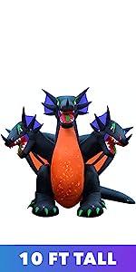 three 3 headed dragon