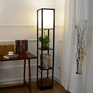 Alampia Hölzern Regal Stehlampe