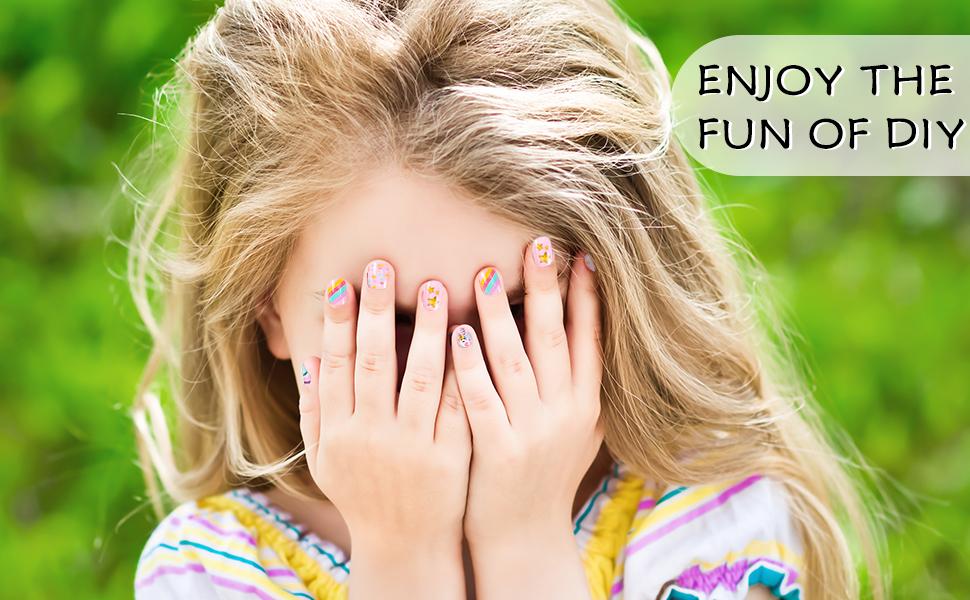 kids fake nails