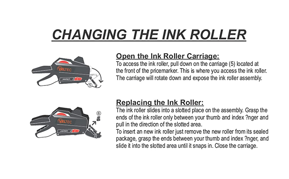 veltec ink roller replacement