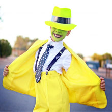 Mask, halloween, yellow, kids, boys, costume, costume made, mask, green, face