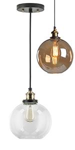 Vintage sferyczna lampa wisząca