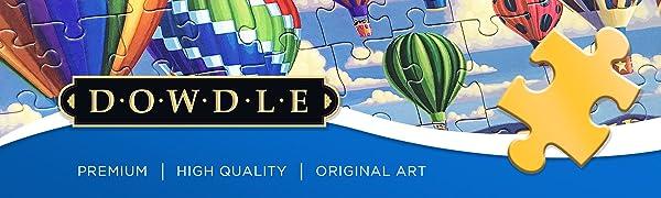 Dowdle Jigsaw Puzzle Premium High Quality Original Art Piece Family Time Folk Eric