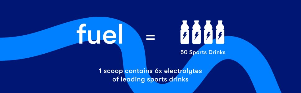 1 flyby fuel jar equals 50 sports drinks and 1 scoop has 6 times more electrolytes too