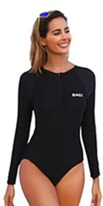 Long Sleeve Zipper Surfing Swimsuit