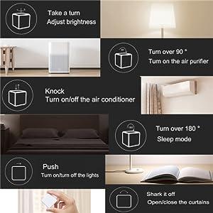 Owsoo Magic Cubes Intelligente Home Controller Zigbee Version Wird Durch 6 Aktionen Verbindungssteuerung Baumarkt