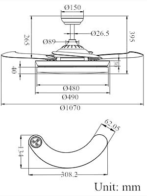 ventilateur de plafond avec telecommande blanc
