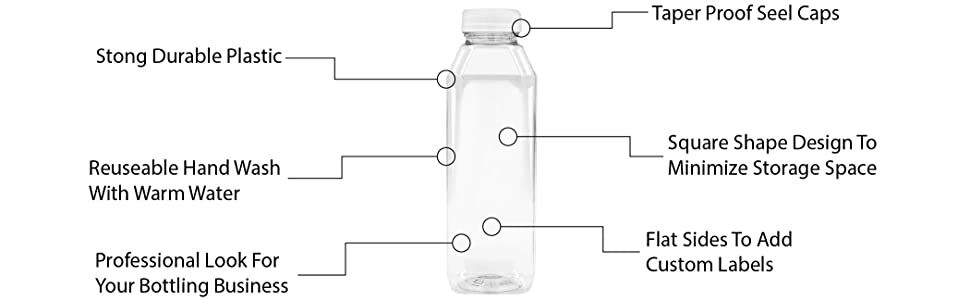 Upper Midland Products clear plastic bottles with lids plastic bottle with lid