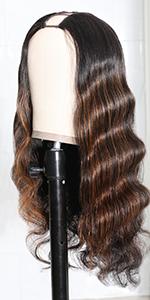 u part human hair wig