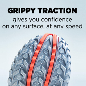 saucony trail running shoe sole with grippy traction