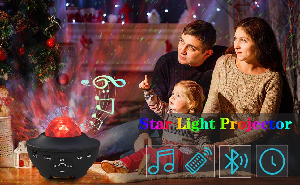 Projecteur LED Star Light Night Music