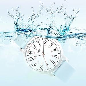 Nurses Watches for Women Nursing Watch with Second Hand Waterproof Scrub Work Wrist Watches Silicone