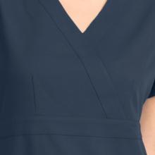 Mock wrap neckline close-up on Barco Grey's Anatomy 4153 women's scrub top