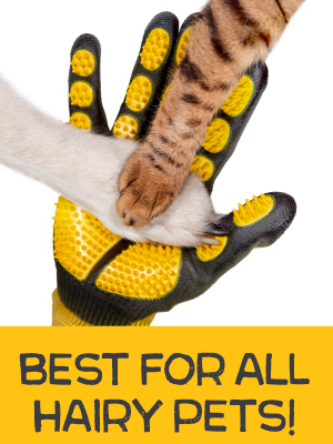 Cat and dog brush gloves, perfect for regular grooming, dematting, shedding, deshedding and bathing.