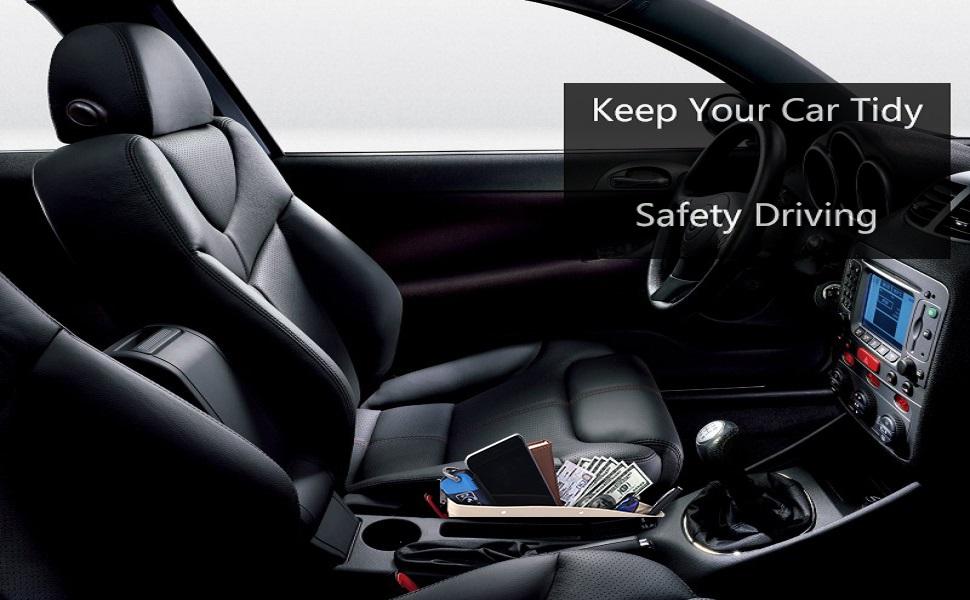 Cards Black ALAVISXF Pens 2 Pack Coins with 4 Spacer Between Seats Gap Filler to Hold Keys Universal Leather Car Seat Pocket Organizer Phone Car Seat Gap Filler