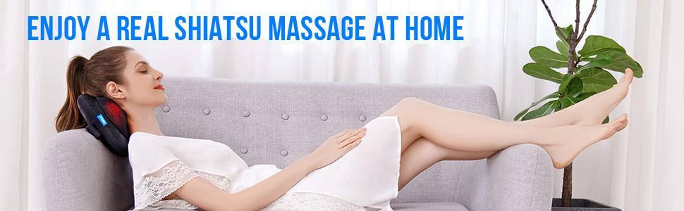 enjoy a real shiatsu massage at home
