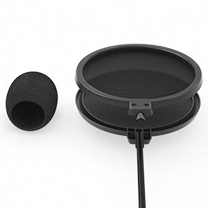 Filtri Pop a doppio strato e cover microfono