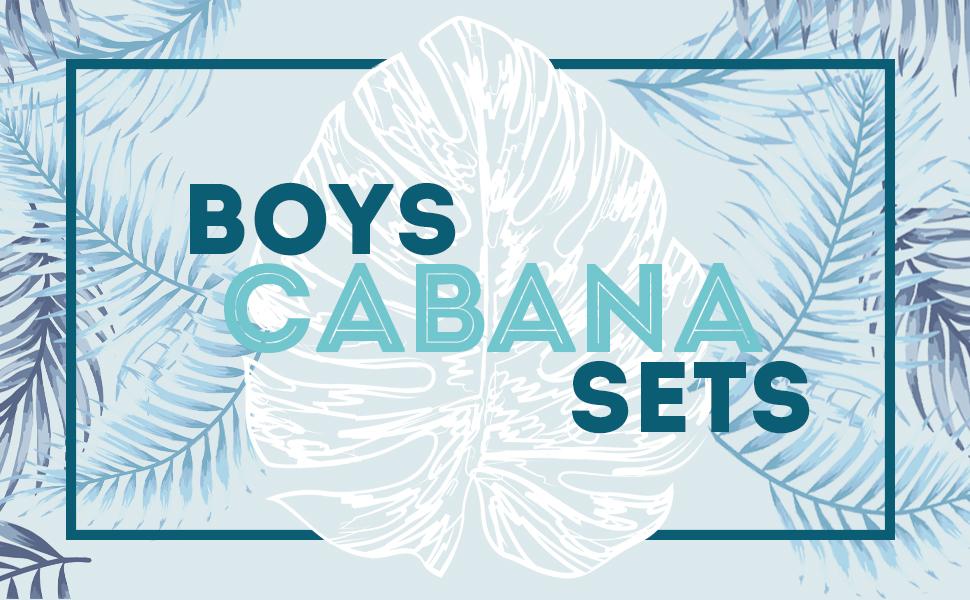 Hawaiian Boys Matching Cabana Sets Shirts Shorts Hawaii Hangover