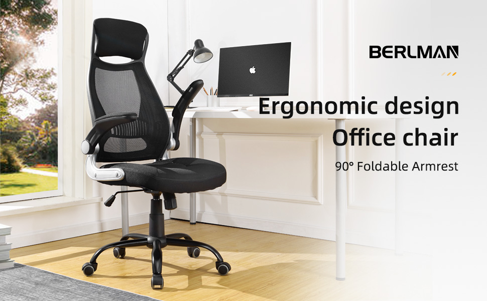 Berlman Ergonomic High Back Mesh Office Chair With Adjustable Armrest Desk Chair Computer Chair Black Plus Furniture Decor