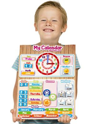 aeioubaby klocka klockkalender barn leksaker spel undervisningsklockor lärande utbildning