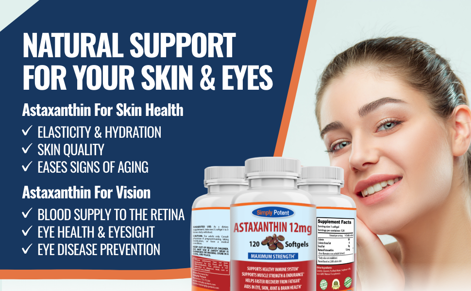 Simply Potent Astaxanthin 12mg