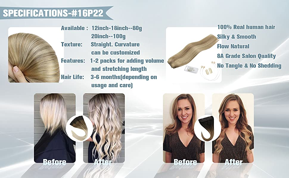 sunny flip in human Hair extensions