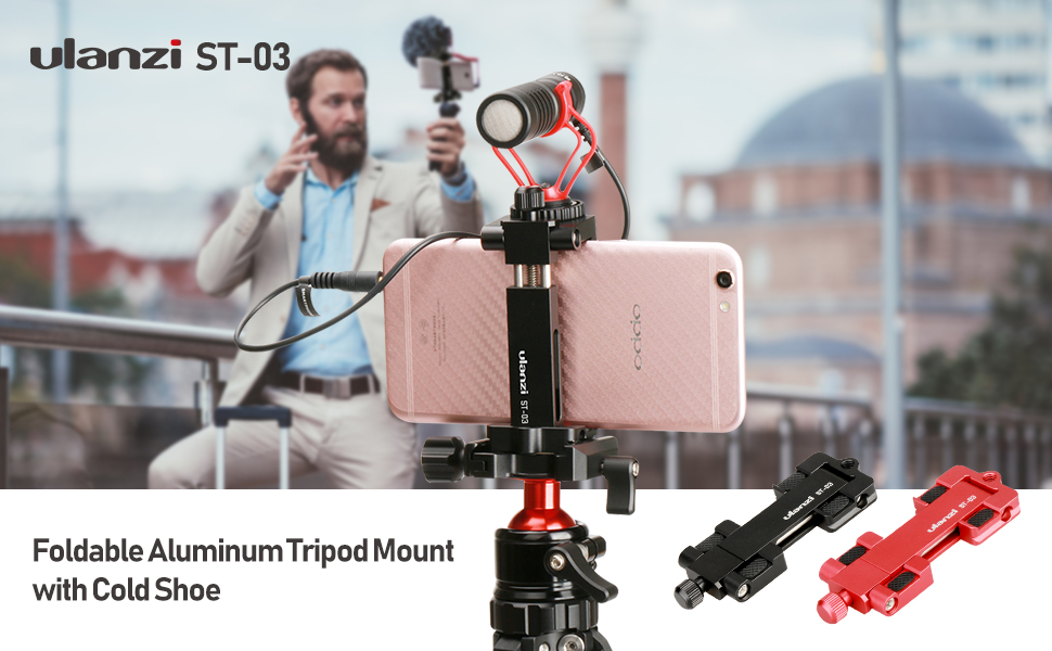 phone tripod mount with cold shoe mount