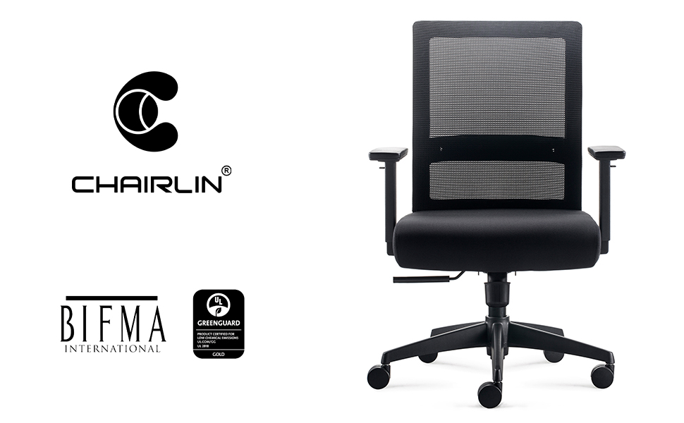 Amazon Com Chairlin Big And Tall 350lb Home Office Task Chair Ergonomic Executive Desk Rolling Swivel Chair Adjustable Armrests Mesh High Back Computer Chair With Lumbar Support For Women Men Kitchen Dining