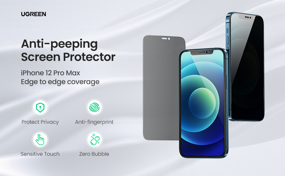 UGREEN Full Coverage Screen Protector with Precise-align