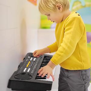 sanlinkee Teclado Piano Niños, 37 Teclas Electrónico Música Teclado Piano Mini Teclado Portátil Enseñanza Teclado Digital Juguete Educativo para Niña ...