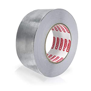 3.6 mil Furnace High Temp and Heavy Duty Metal Aluminum HVAC Tape for Duct Work AC Units and metalworks XFasten Aluminum Foil Reflective Duct Tape 2 Inches x 75 Feet