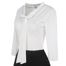 black white church dress