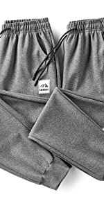 Men's Joggers Athletic Pants Running Workout Tapered Sweatpants with Zipper Pockets