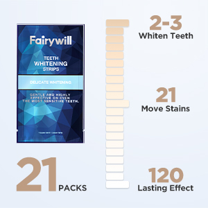 Fairywill whitening strips for sensitive teeth